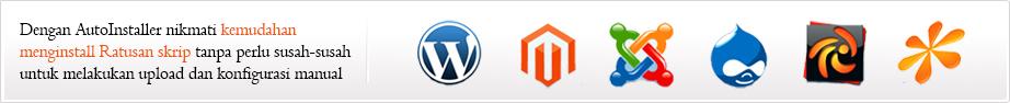 Auto install wordpress, joomla, dan script lainnya
